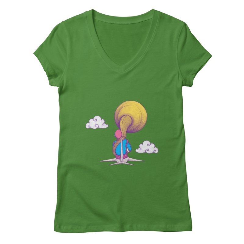 The Extraterrestrial Triumph Women's V-Neck by Ranggasme's Artist Shop