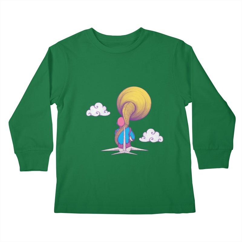 The Extraterrestrial Triumph Kids Longsleeve T-Shirt by Ranggasme's Artist Shop