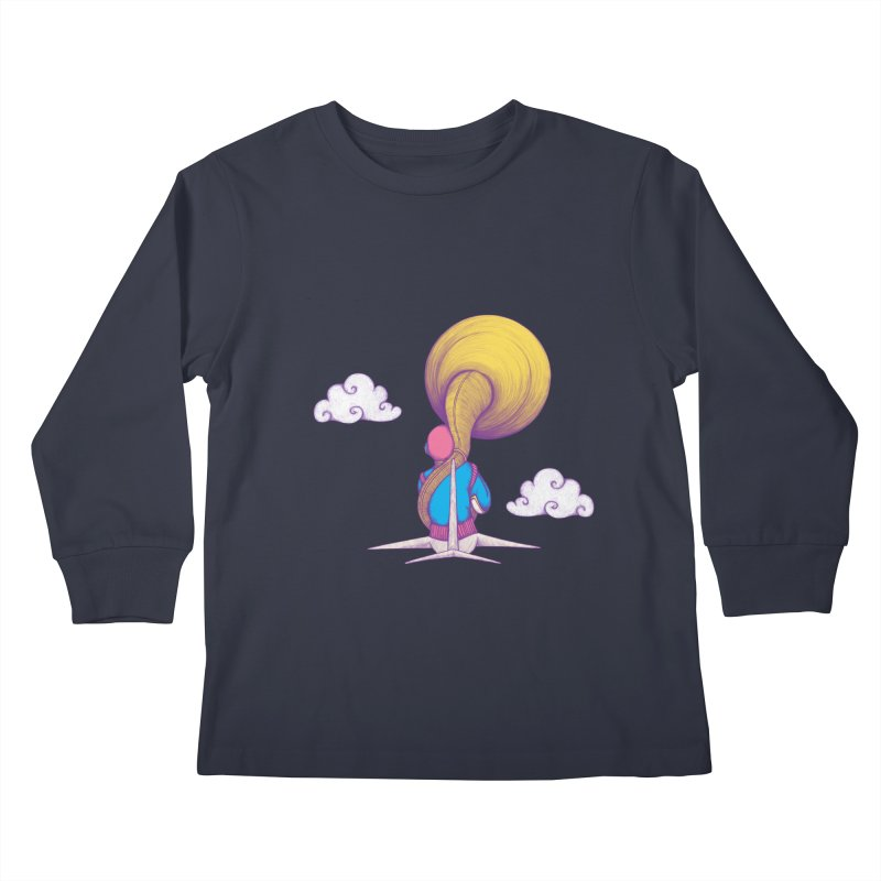 The Extraterrestrial Triumph Kids Longsleeve T-Shirt by Ranggasme's Artist Shop