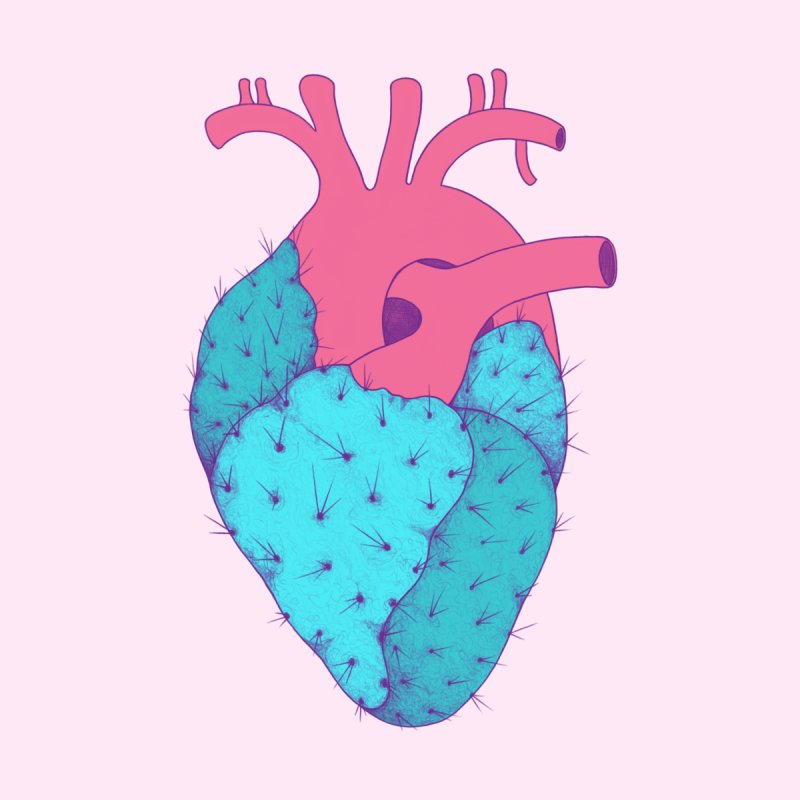 Cactus Heart by Ranggasme's Artist Shop