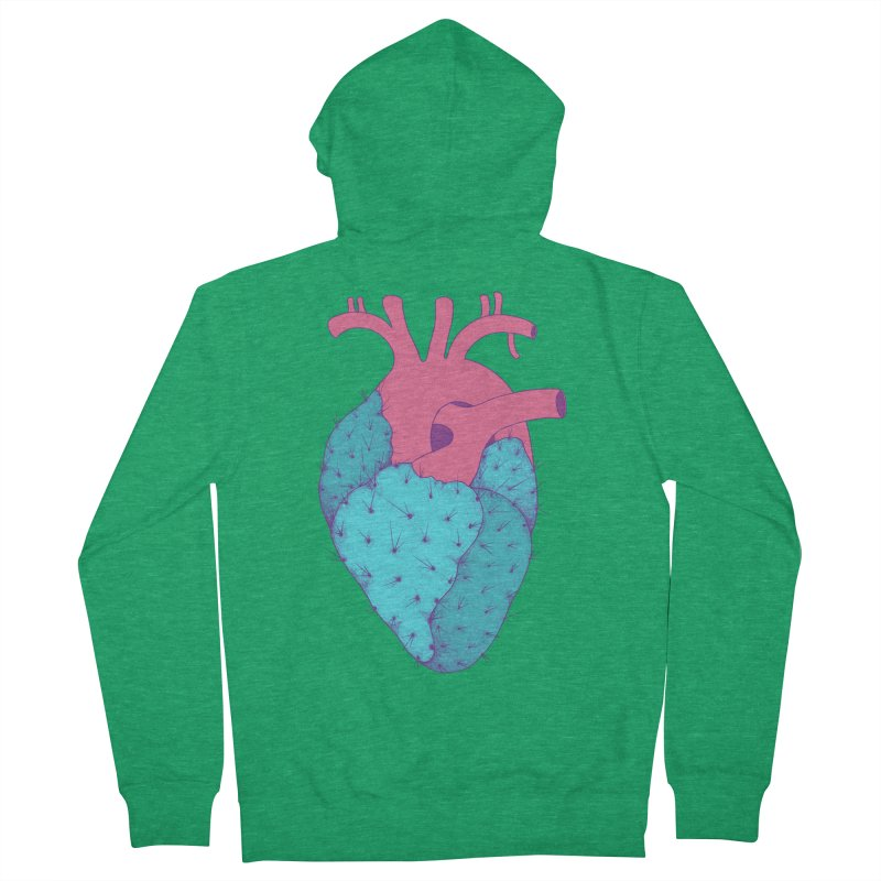 Cactus Heart Men's Zip-Up Hoody by Ranggasme's Artist Shop