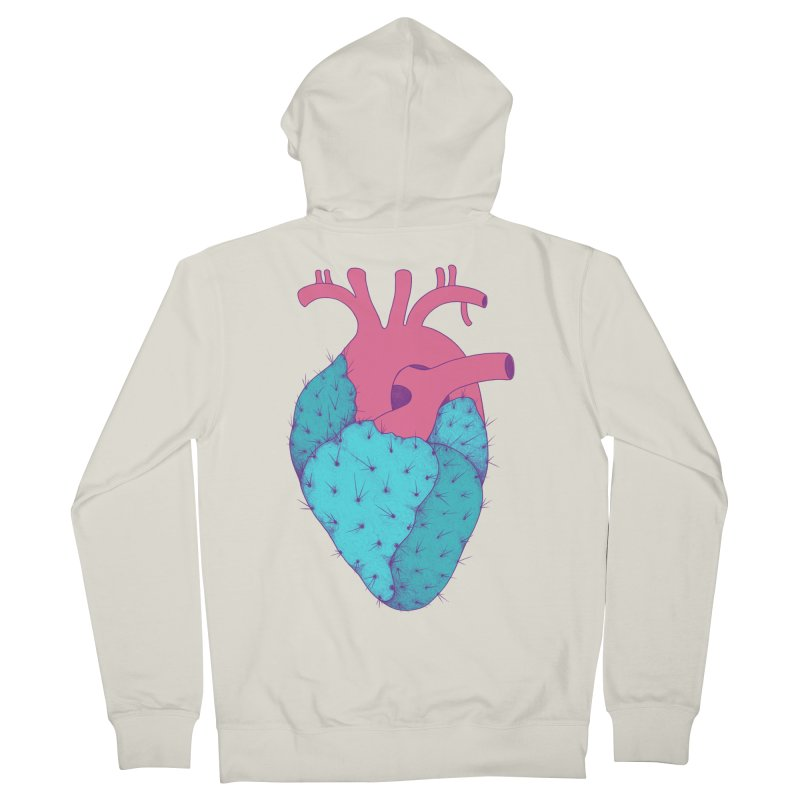 Cactus Heart Men's Zip-Up Hoody by Ranggasme's Artist Shop