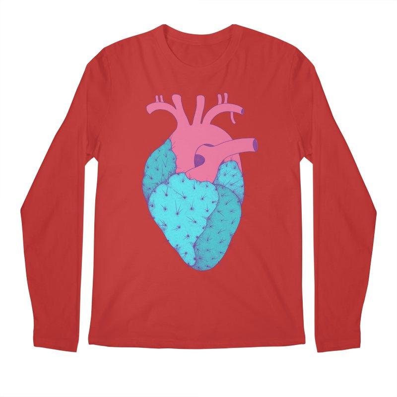 Cactus Heart Men's Longsleeve T-Shirt by Ranggasme's Artist Shop