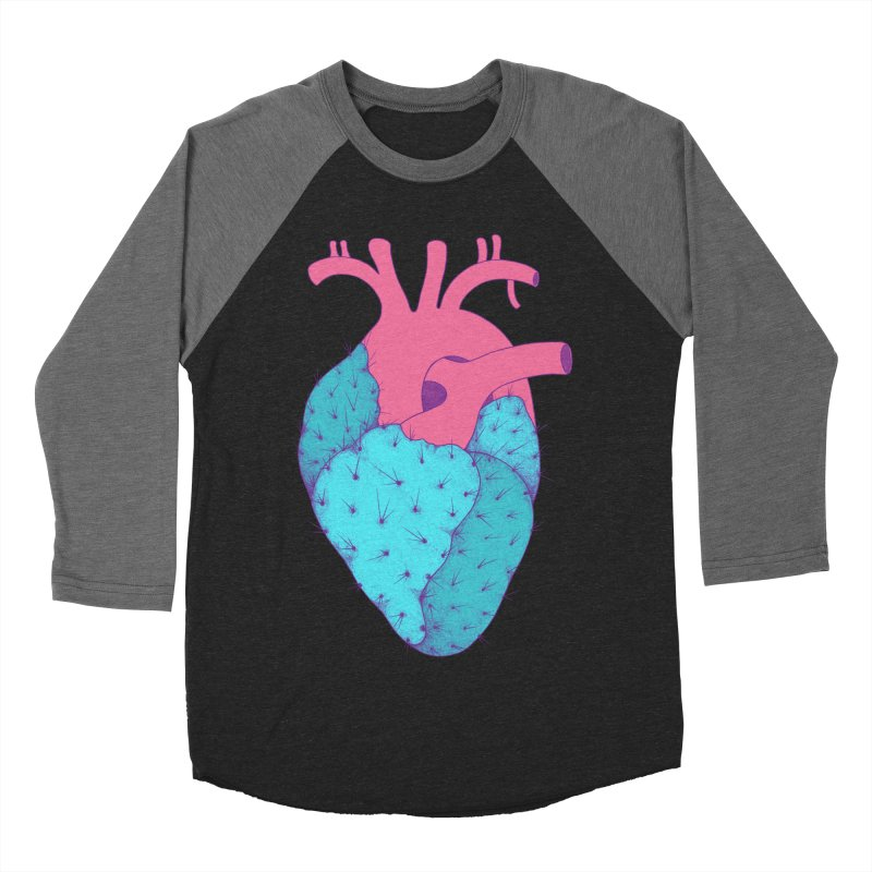 Cactus Heart Women's Baseball Triblend T-Shirt by Ranggasme's Artist Shop
