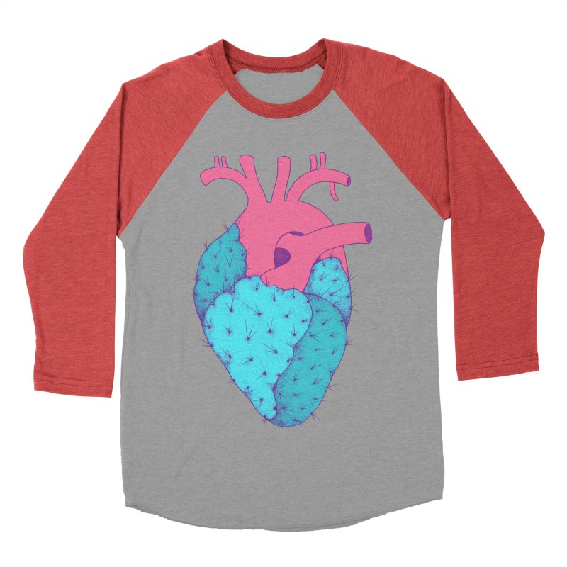 Cactus Heart Men's Baseball Triblend T-Shirt by Ranggasme's Artist Shop