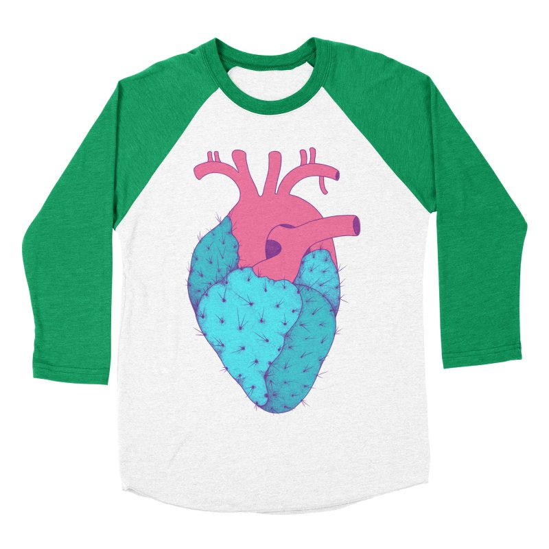 Cactus Heart Men's Baseball Triblend T-Shirt by Ranggasme's Artist Shop