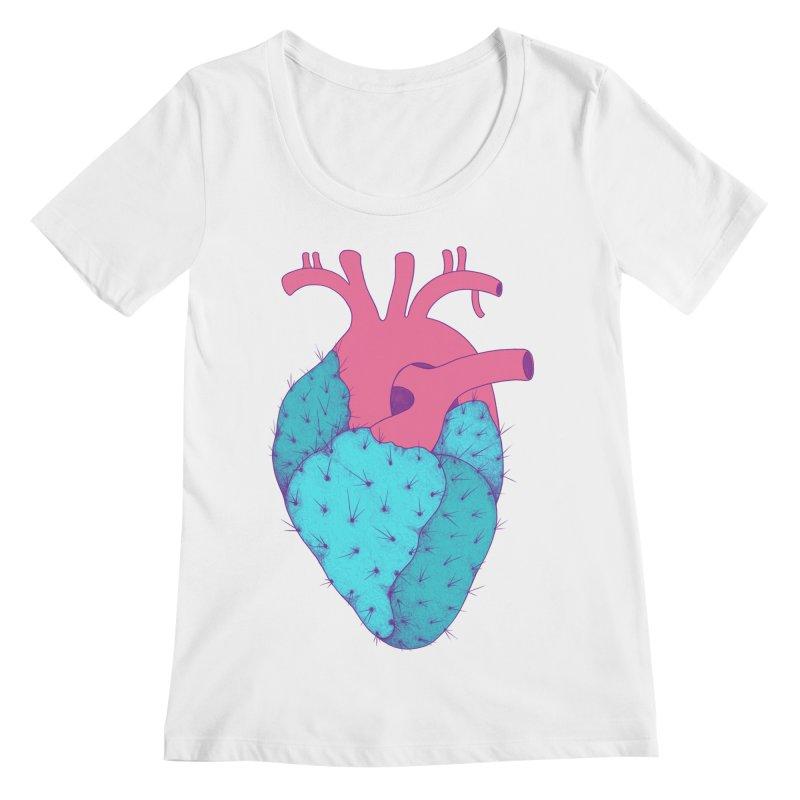Cactus Heart Women's Scoopneck by Ranggasme's Artist Shop