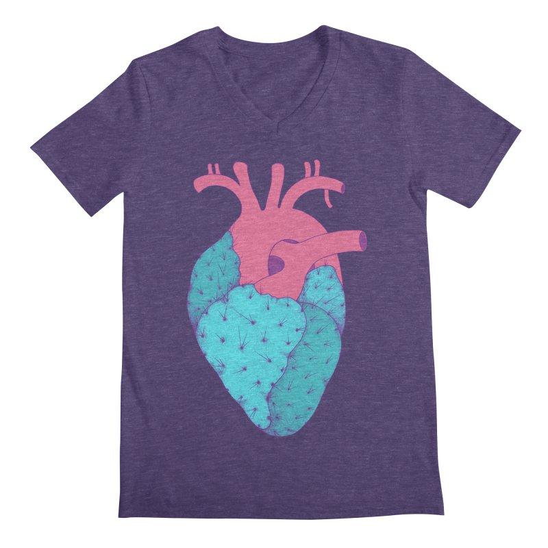 Cactus Heart Men's V-Neck by Ranggasme's Artist Shop