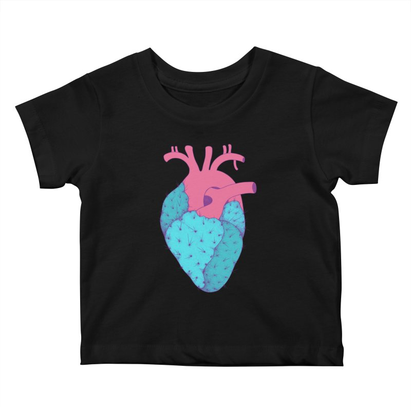 Cactus Heart Kids Baby T-Shirt by Ranggasme's Artist Shop