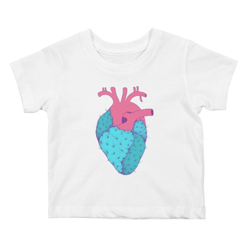 Cactus Heart Kids Baby T-Shirt by Ranggasme's Artist Shop