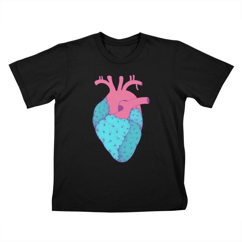 Cactus Heart Kids T-Shirt by Ranggasme's Artist Shop