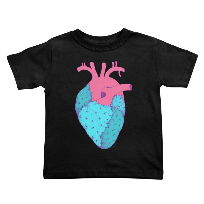 Cactus Heart Kids Toddler T-Shirt by Ranggasme's Artist Shop