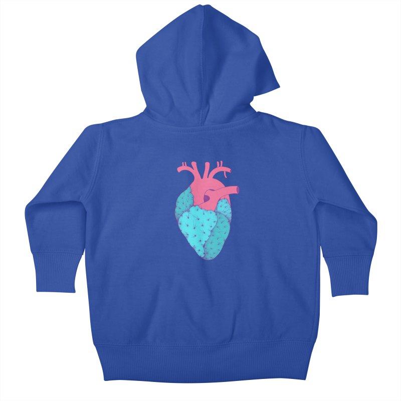 Cactus Heart Kids Baby Zip-Up Hoody by Ranggasme's Artist Shop