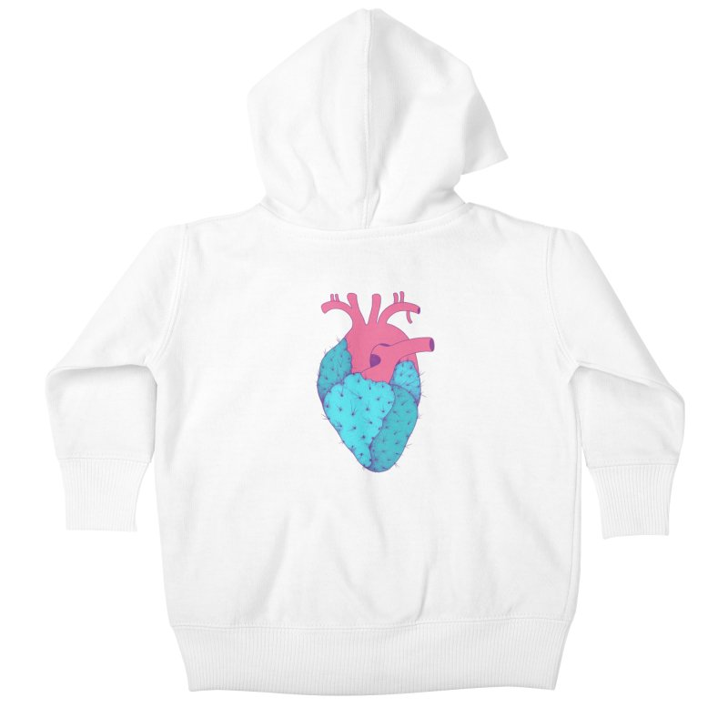 Cactus Heart Kids Baby Zip-Up Hoody by Ranggasme's Artist Shop