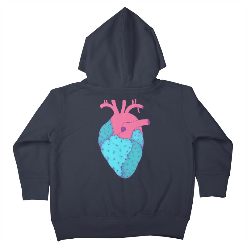 Cactus Heart Kids Toddler Zip-Up Hoody by Ranggasme's Artist Shop