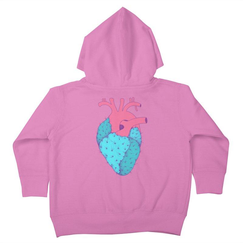 Cactus Heart Kids Toddler Zip-Up Hoody by Ranggasme's Artist Shop