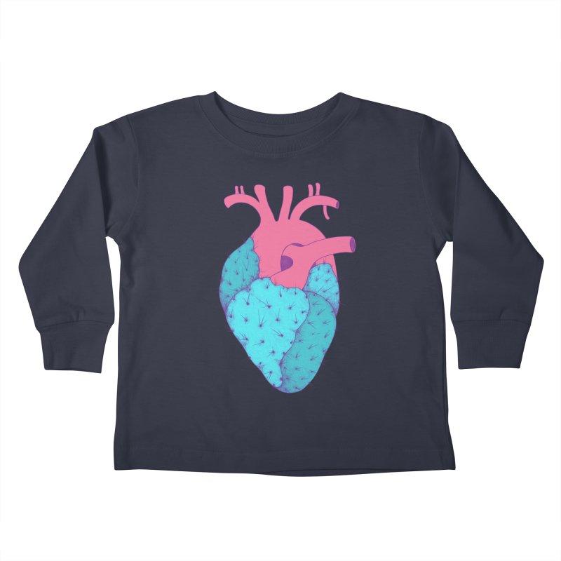 Cactus Heart Kids Toddler Longsleeve T-Shirt by Ranggasme's Artist Shop
