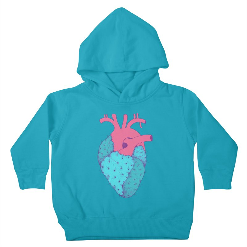 Cactus Heart Kids Toddler Pullover Hoody by Ranggasme's Artist Shop