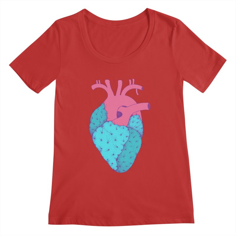 Cactus Heart Women's Scoopneck by Ranggasme's Artist Shop