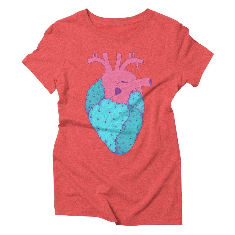 Cactus Heart Women's Triblend T-Shirt by Ranggasme's Artist Shop