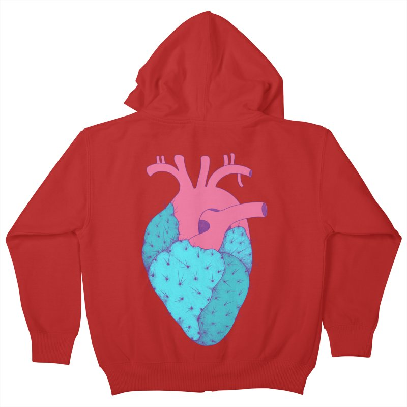 Cactus Heart Kids Zip-Up Hoody by Ranggasme's Artist Shop