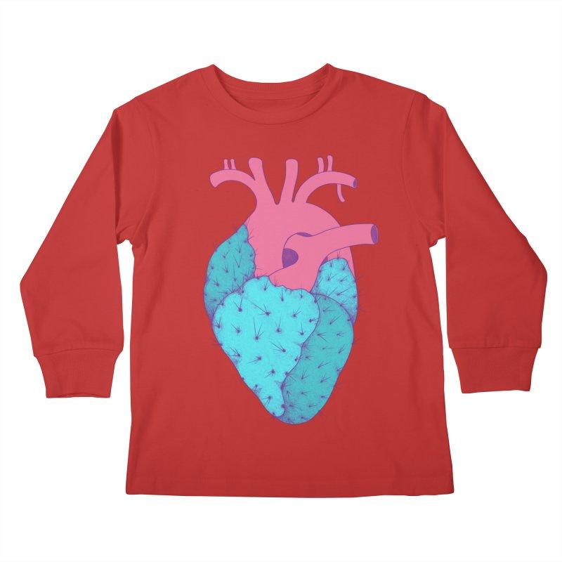 Cactus Heart Kids Longsleeve T-Shirt by Ranggasme's Artist Shop