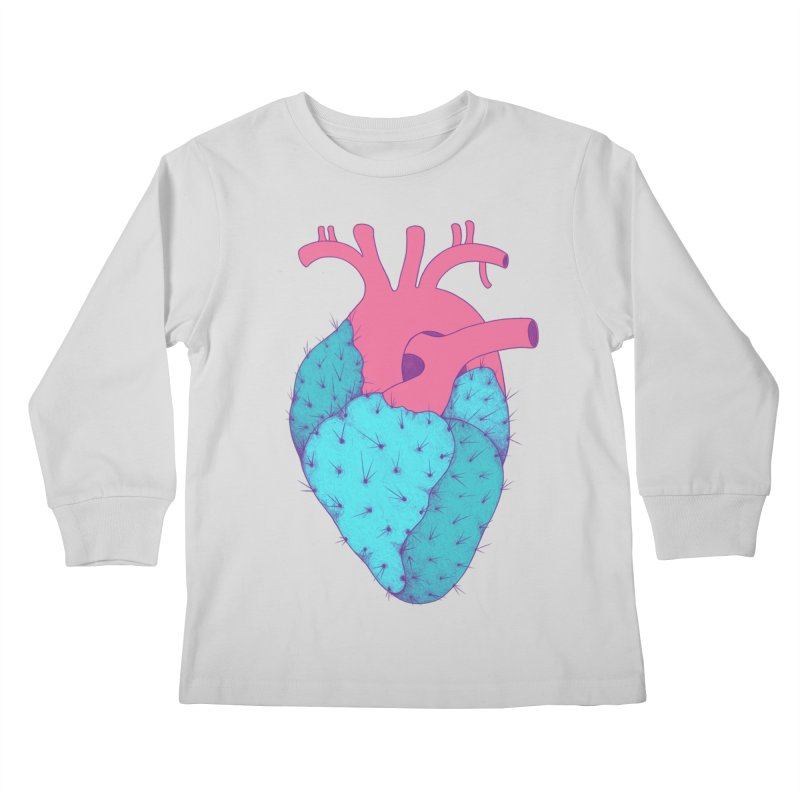 Cactus Heart Kids Longsleeve T-Shirt by Ranggasme's Artist Shop