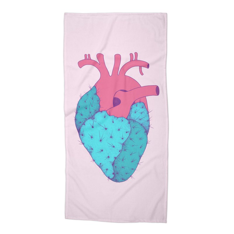 Cactus Heart Accessories Beach Towel by Ranggasme's Artist Shop