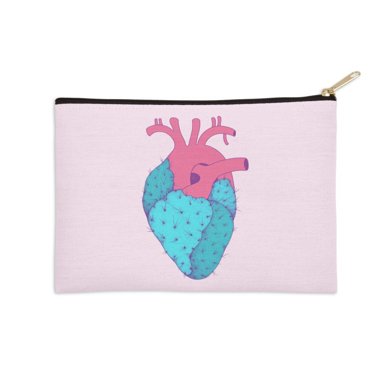 Cactus Heart Accessories Zip Pouch by Ranggasme's Artist Shop