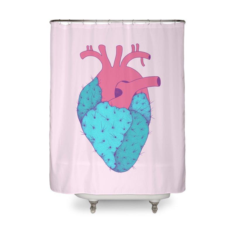 Cactus Heart Home Shower Curtain by Ranggasme's Artist Shop
