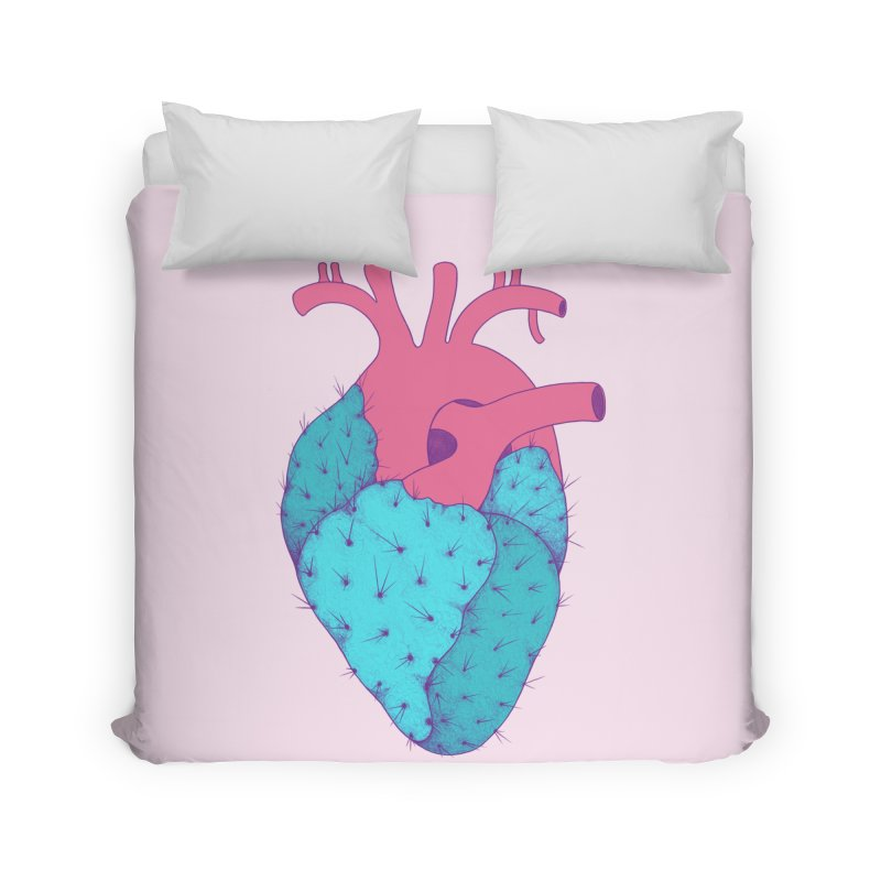 Cactus Heart Home Duvet by Ranggasme's Artist Shop