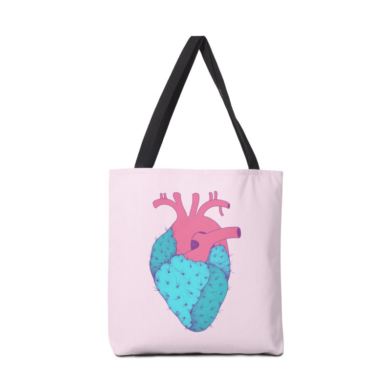 Cactus Heart Accessories Bag by Ranggasme's Artist Shop