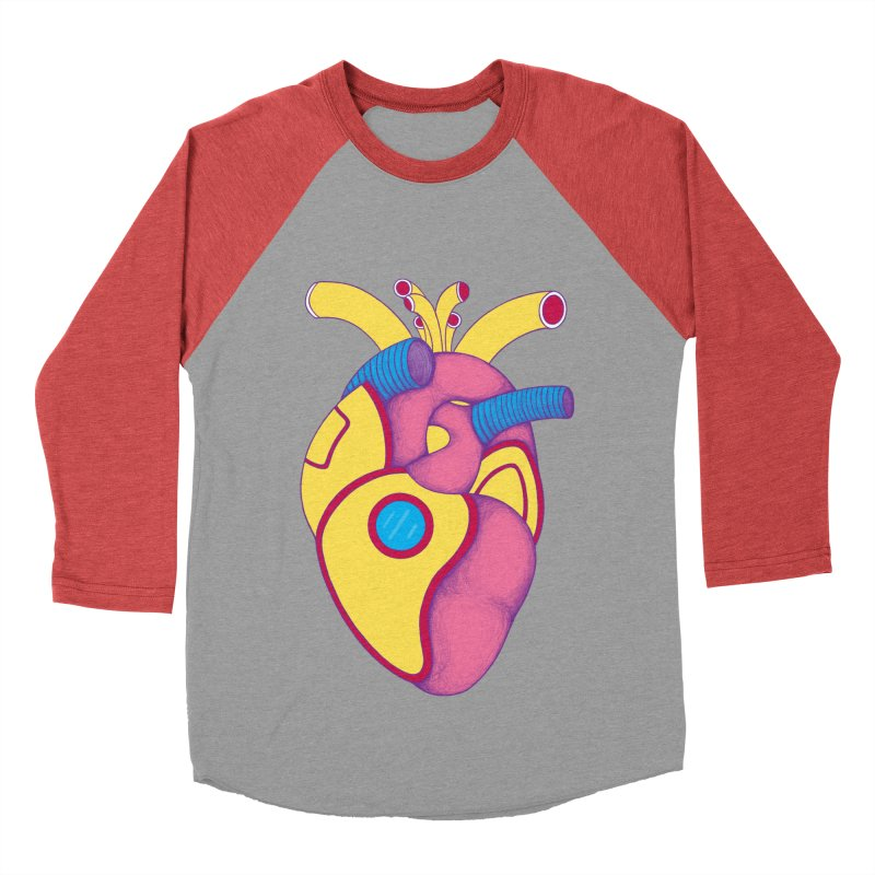 Yellow Submarine Heart Men's Baseball Triblend T-Shirt by Ranggasme's Artist Shop
