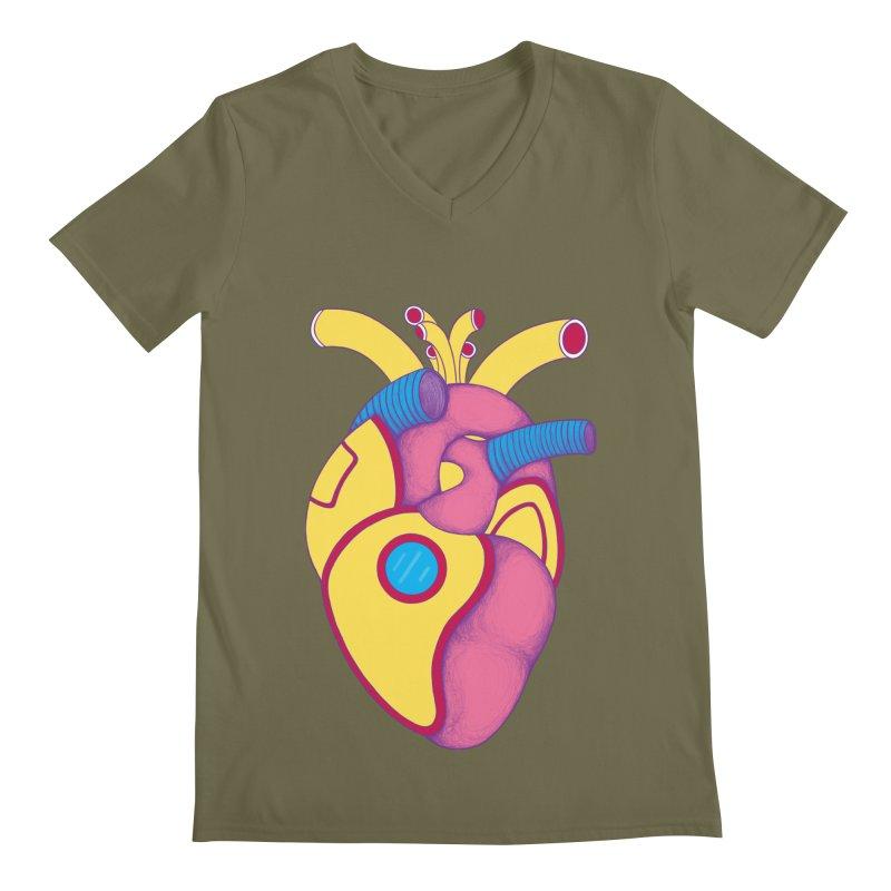 Yellow Submarine Heart Men's V-Neck by Ranggasme's Artist Shop