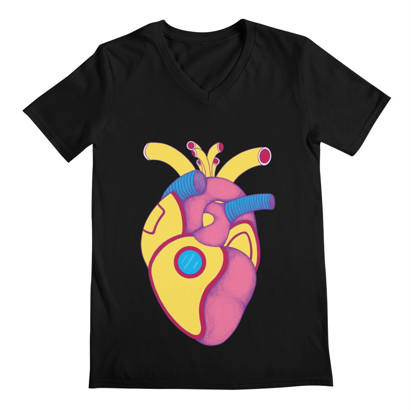 Yellow Submarine Heart Men's V-Neck by Ranggasme's Artist Shop
