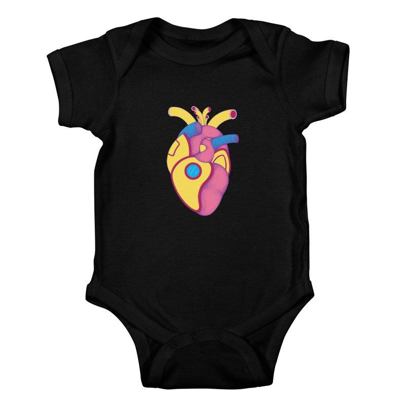 Yellow Submarine Heart Kids Baby Bodysuit by Ranggasme's Artist Shop