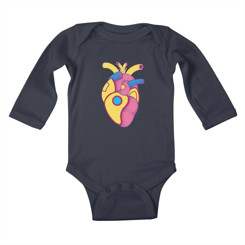 Yellow Submarine Heart Kids Baby Longsleeve Bodysuit by Ranggasme's Artist Shop