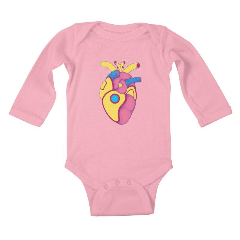Yellow Submarine Heart Kids Baby Longsleeve Bodysuit by Ranggasme's Artist Shop