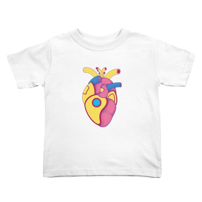 Yellow Submarine Heart Kids Toddler T-Shirt by Ranggasme's Artist Shop