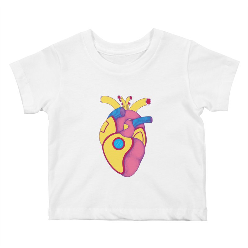 Yellow Submarine Heart Kids Baby T-Shirt by Ranggasme's Artist Shop