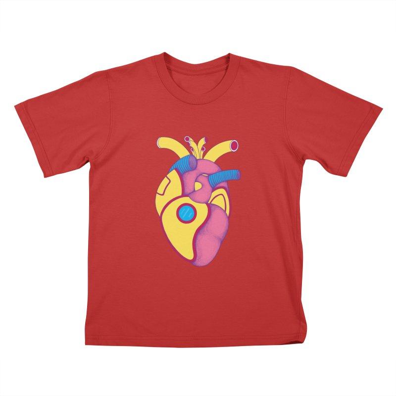 Yellow Submarine Heart Kids T-Shirt by Ranggasme's Artist Shop