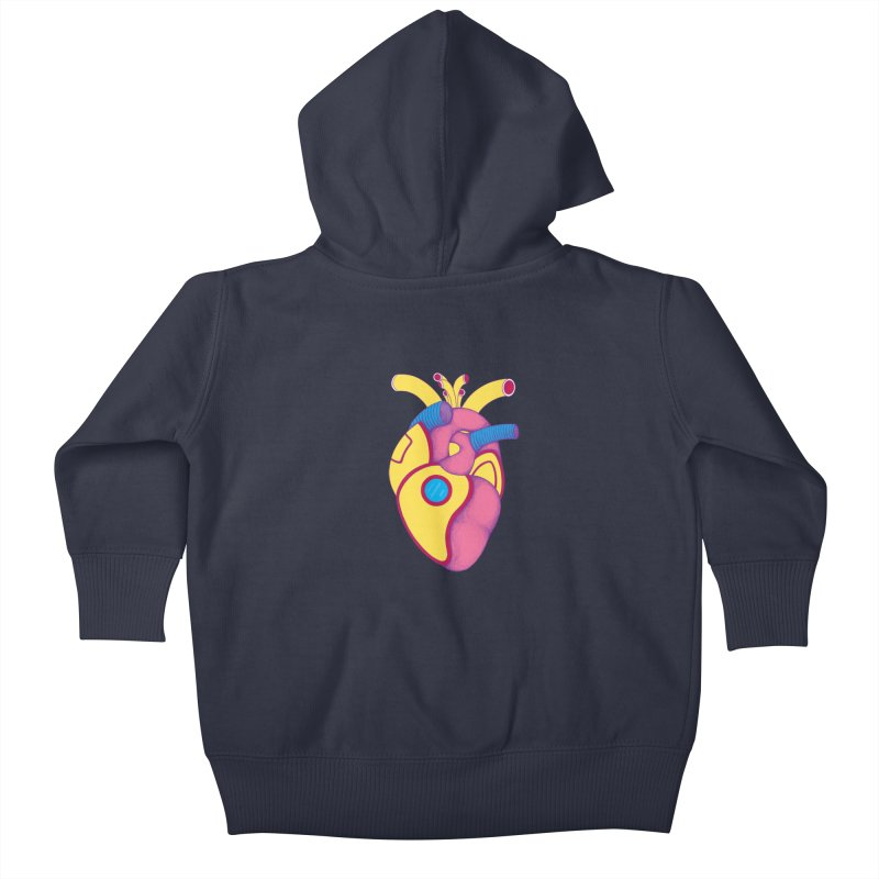 Yellow Submarine Heart Kids Baby Zip-Up Hoody by Ranggasme's Artist Shop