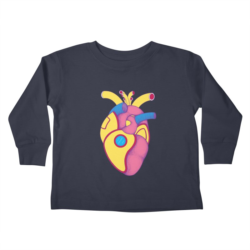 Yellow Submarine Heart Kids Toddler Longsleeve T-Shirt by Ranggasme's Artist Shop
