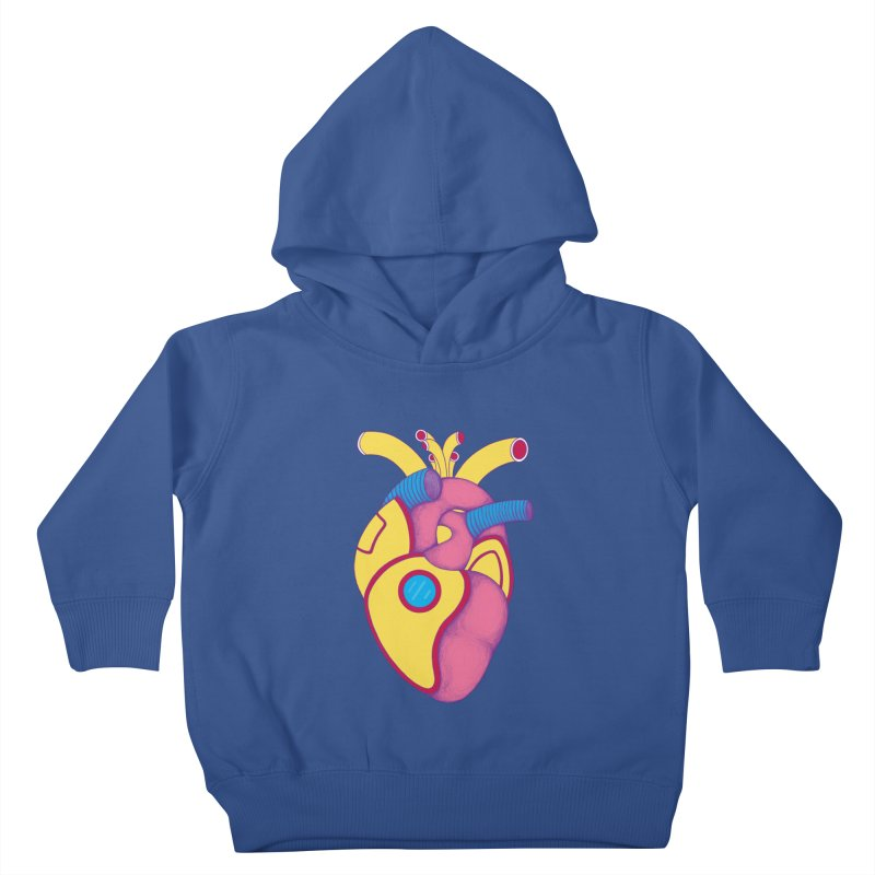 Yellow Submarine Heart Kids Toddler Pullover Hoody by Ranggasme's Artist Shop