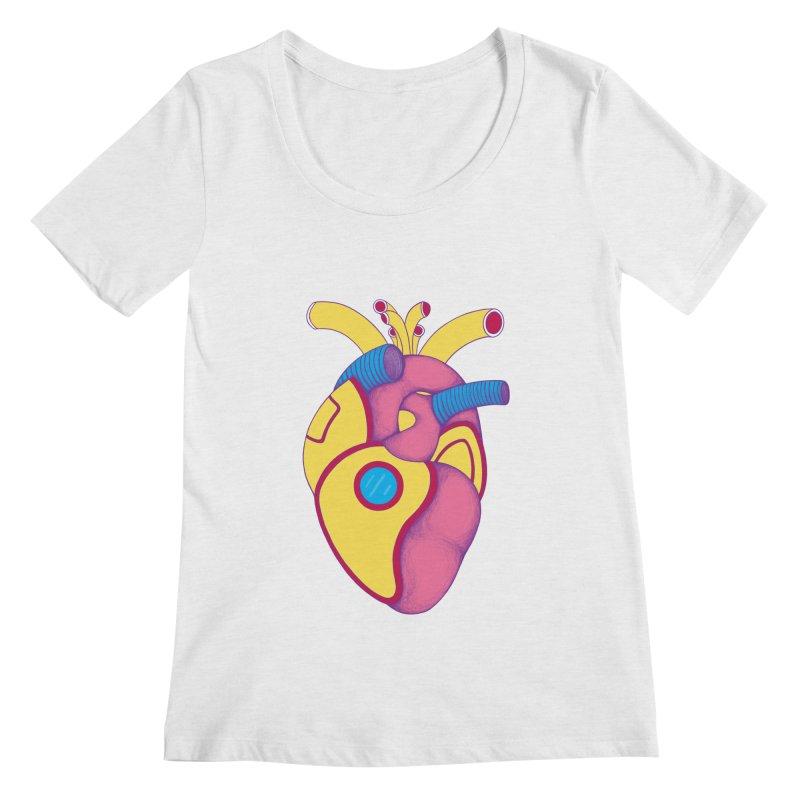 Yellow Submarine Heart Women's Scoopneck by Ranggasme's Artist Shop