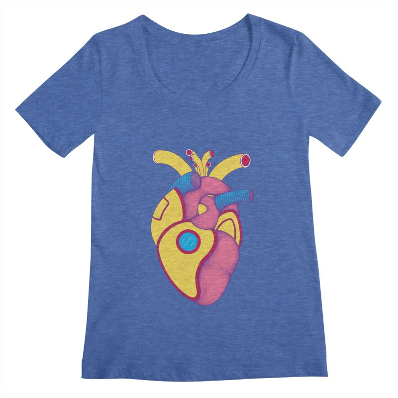 Yellow Submarine Heart Women's Scoopneck by Ranggasme's Artist Shop