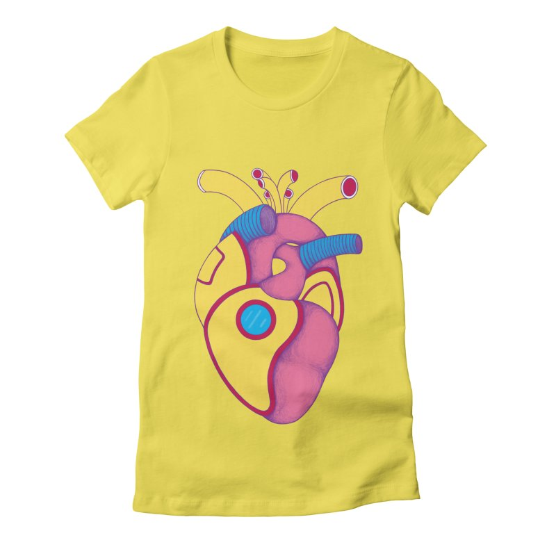 Yellow Submarine Heart Women's Fitted T-Shirt by Ranggasme's Artist Shop