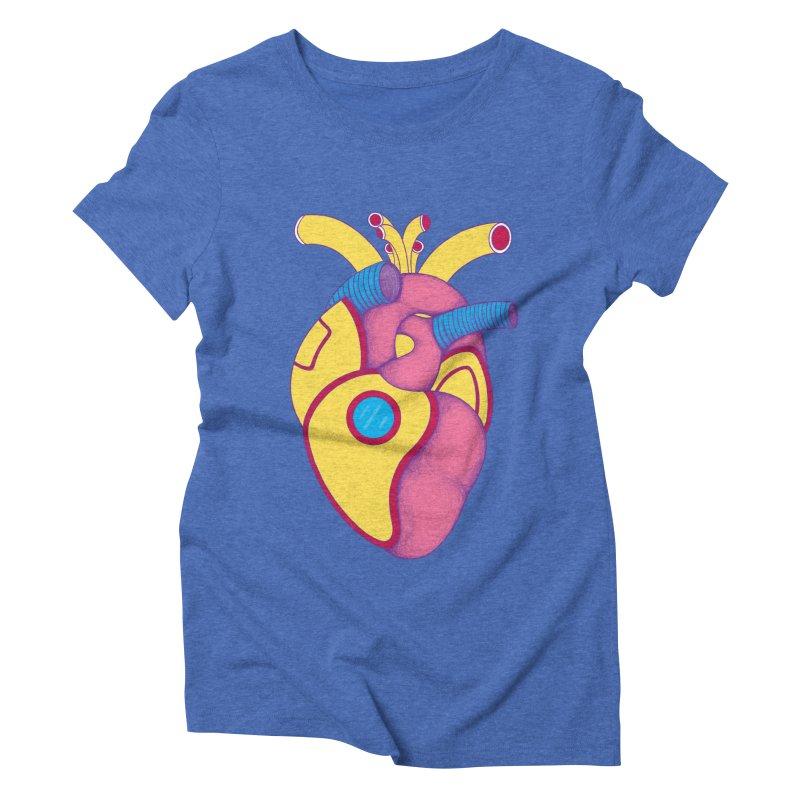Yellow Submarine Heart Women's Triblend T-Shirt by Ranggasme's Artist Shop