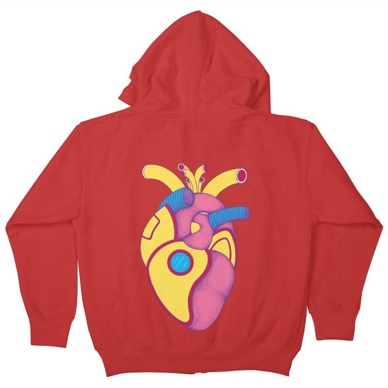 Yellow Submarine Heart Kids Zip-Up Hoody by Ranggasme's Artist Shop