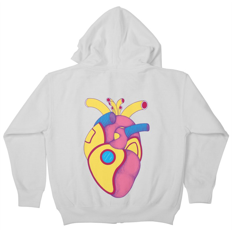 Yellow Submarine Heart Kids Zip-Up Hoody by Ranggasme's Artist Shop